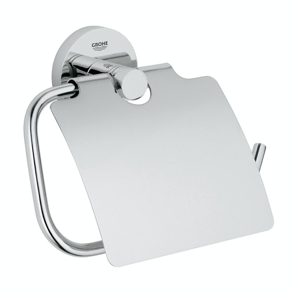 Grohe Essentials toilet roll holder with cover