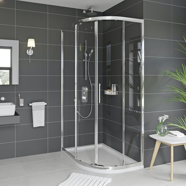 Mode Adler 8mm framed offset quadrant shower enclosure