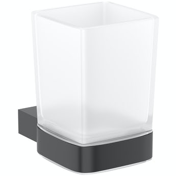 Mode Spencer black tumbler and holder