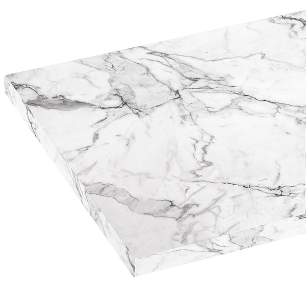 Reeves Wharfe white marble laminate worktop 337 x 1500mm