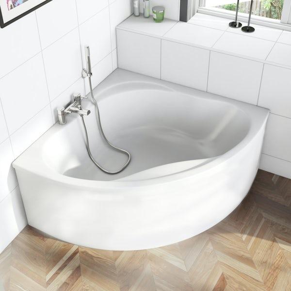 Orchard Wharfe corner bath with panel 1695mm