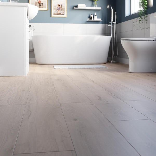 Smallwood sandy oak plank water resistant laminate flooring 8mm