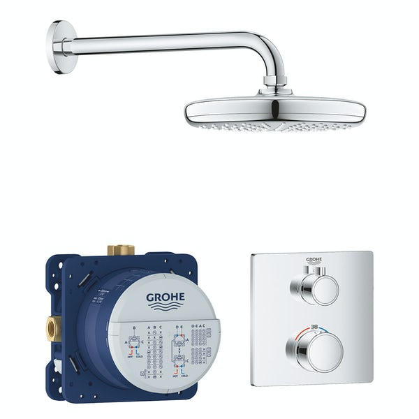 Grohe Grohtherm Square Perfect Shower set with Tempesta 210mm shower head