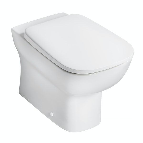 Ideal Standard Studio Echo back to wall toilet with soft close seat, concealed toilet cistern and push plate