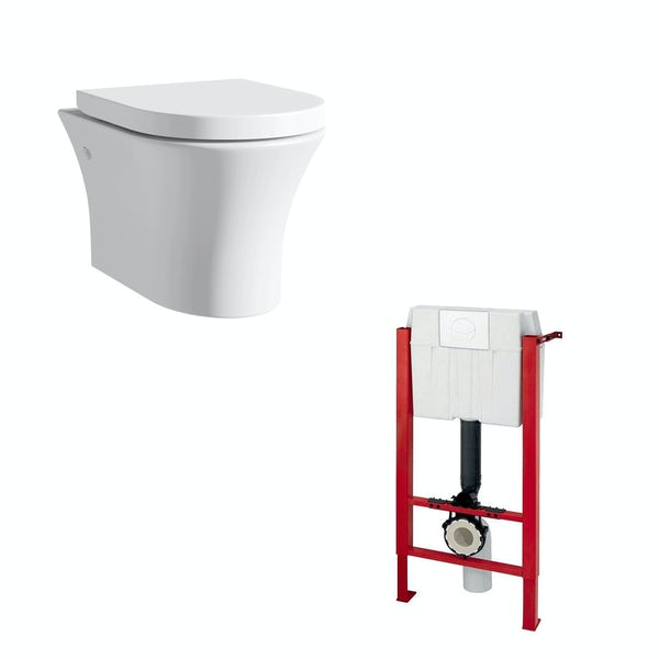 Mode Hardy wall hung toilet inc soft close seat and wall mounting frame