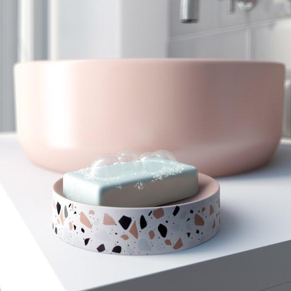Accents Turin Terazzo effect soap dish