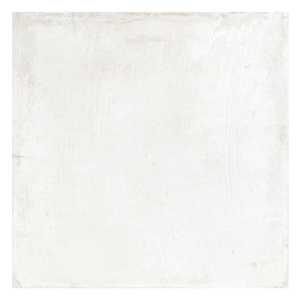 Geneva white stone effect matt wall and floor tile 450mm x 450mm