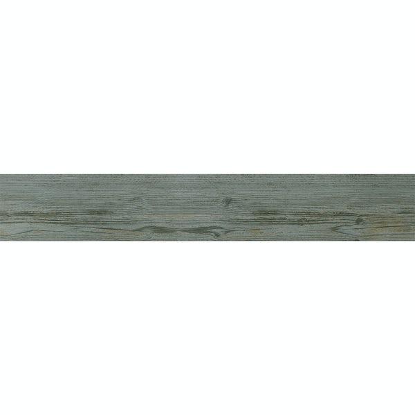 Ashdown mid blue wood effect matt wall and floor tile 140mm x 840mm