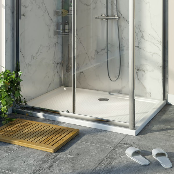 Orchard anti-slip rectangular stone shower tray