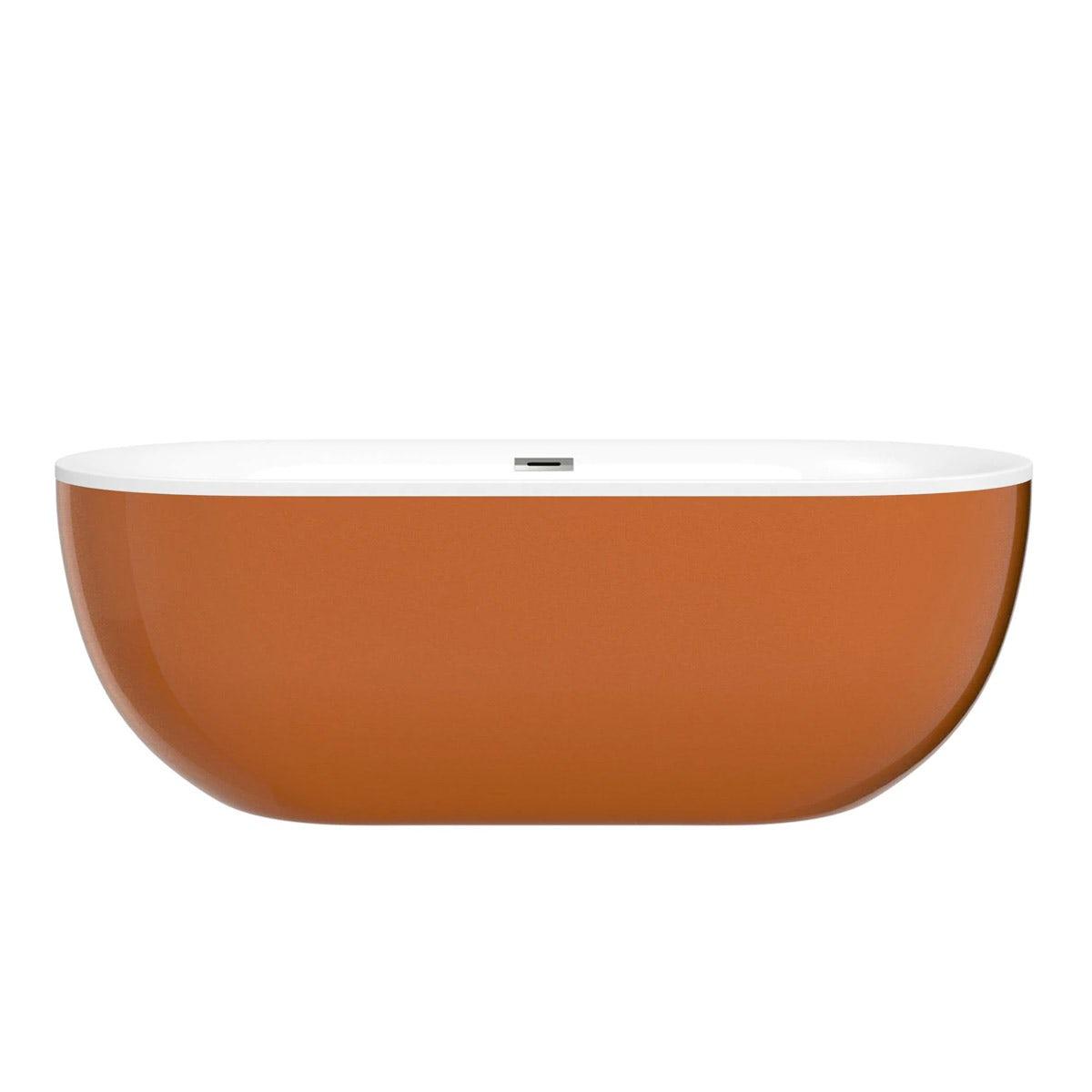 Mode Ellis cinnamon coloured freestanding bath