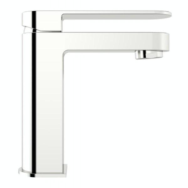 RAK Series 600 1 tap hole semi recessed countertop basin 420m with tap