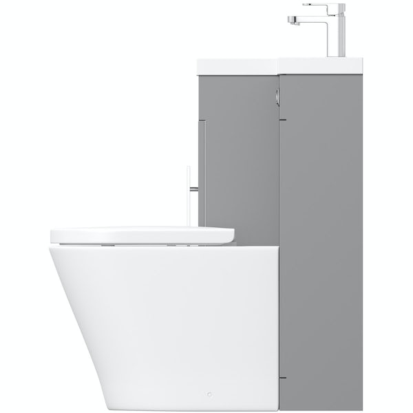 Orchard MySpace slate matt grey left handed combination with contemporary back to wall toilet