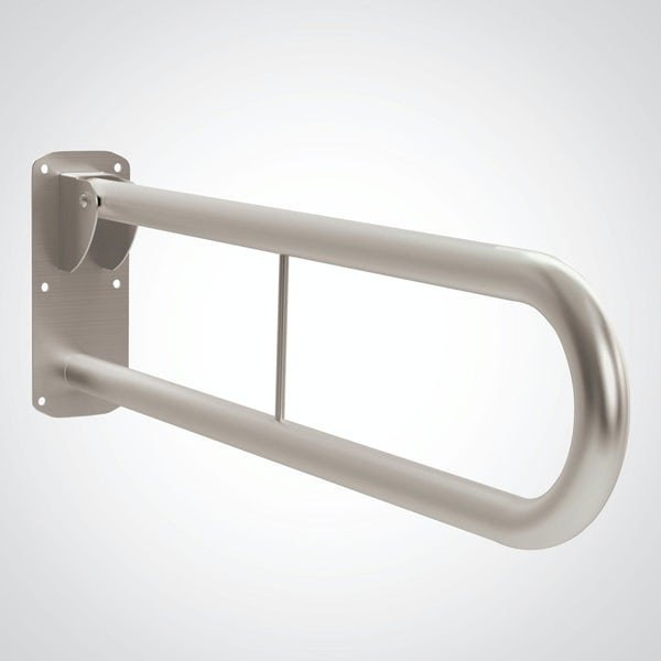 Dolphin commercial Doc M compliant satin stainless steel hinged rail with friction mechanism 800mm