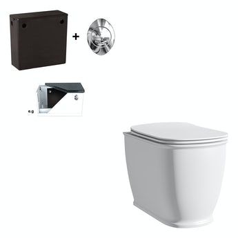 The Bath Co. Beaumont back to wall toilet with soft close seat and concealed cistern