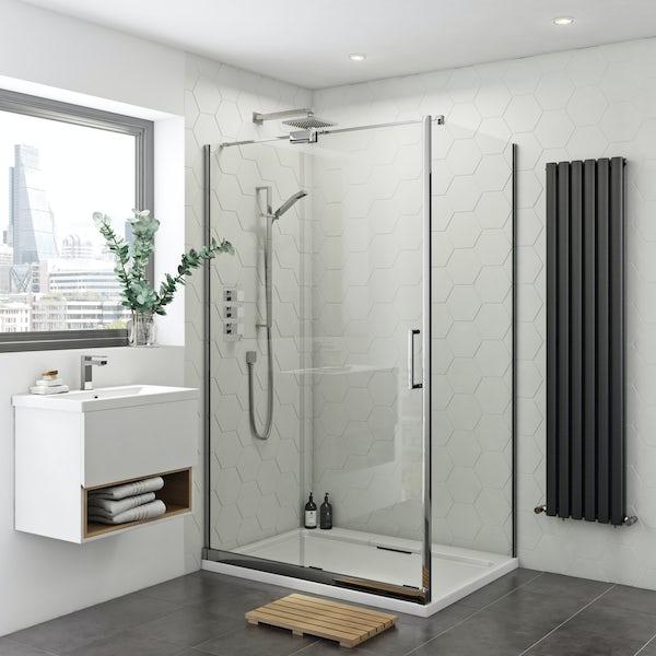 Mode Levien 8mm easy clean left handed rectangular sliding shower enclosure
