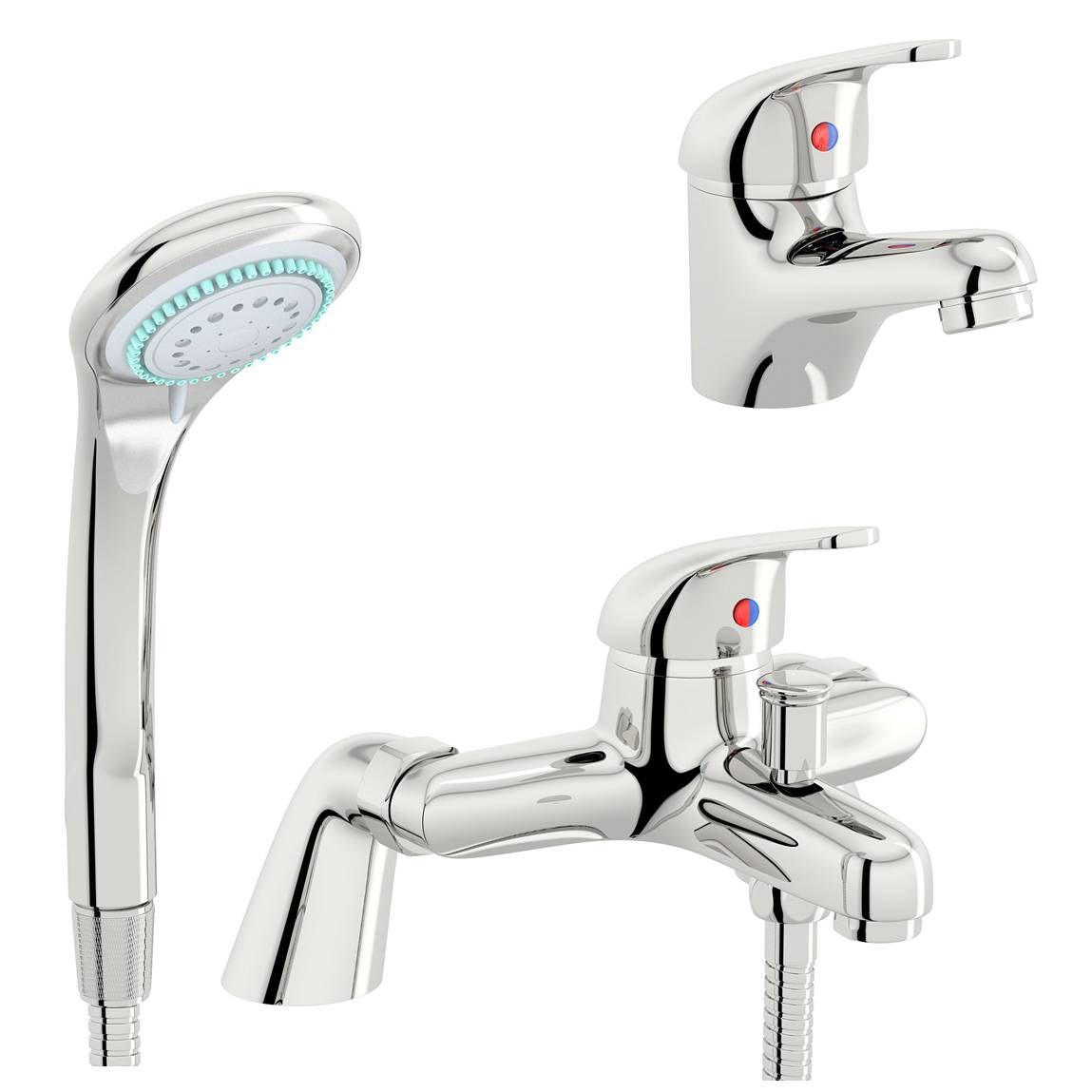 Clarity basin and bath shower mixer tap pack ...