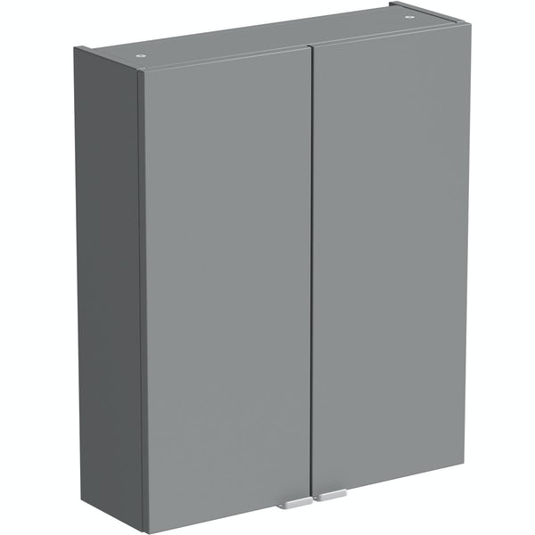 Reeves Wyatt onyx grey wall hung cabinet 720 x 600mm