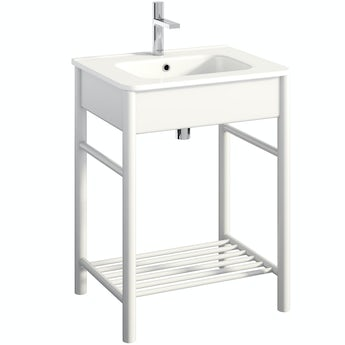 Mode South Bank white washstand and ceramic basin 600mm