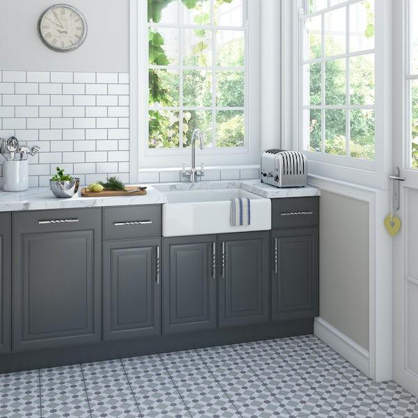Schon Eriskay kitchen tap with ceramic handle