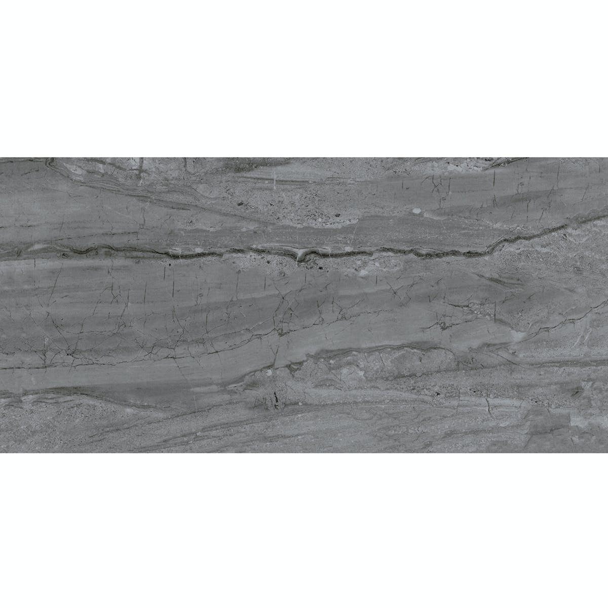 Comet Dark Grey Marble Effect Gloss Wall And Floor Tile 300mm X 600mm Victoriaplum Com