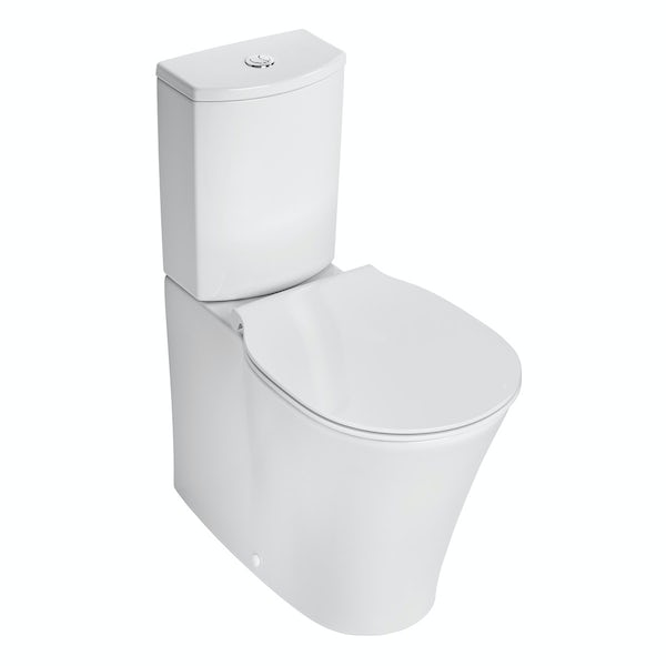Ideal Standard Concept Air Arc close coupled toilet with soft close toilet seat