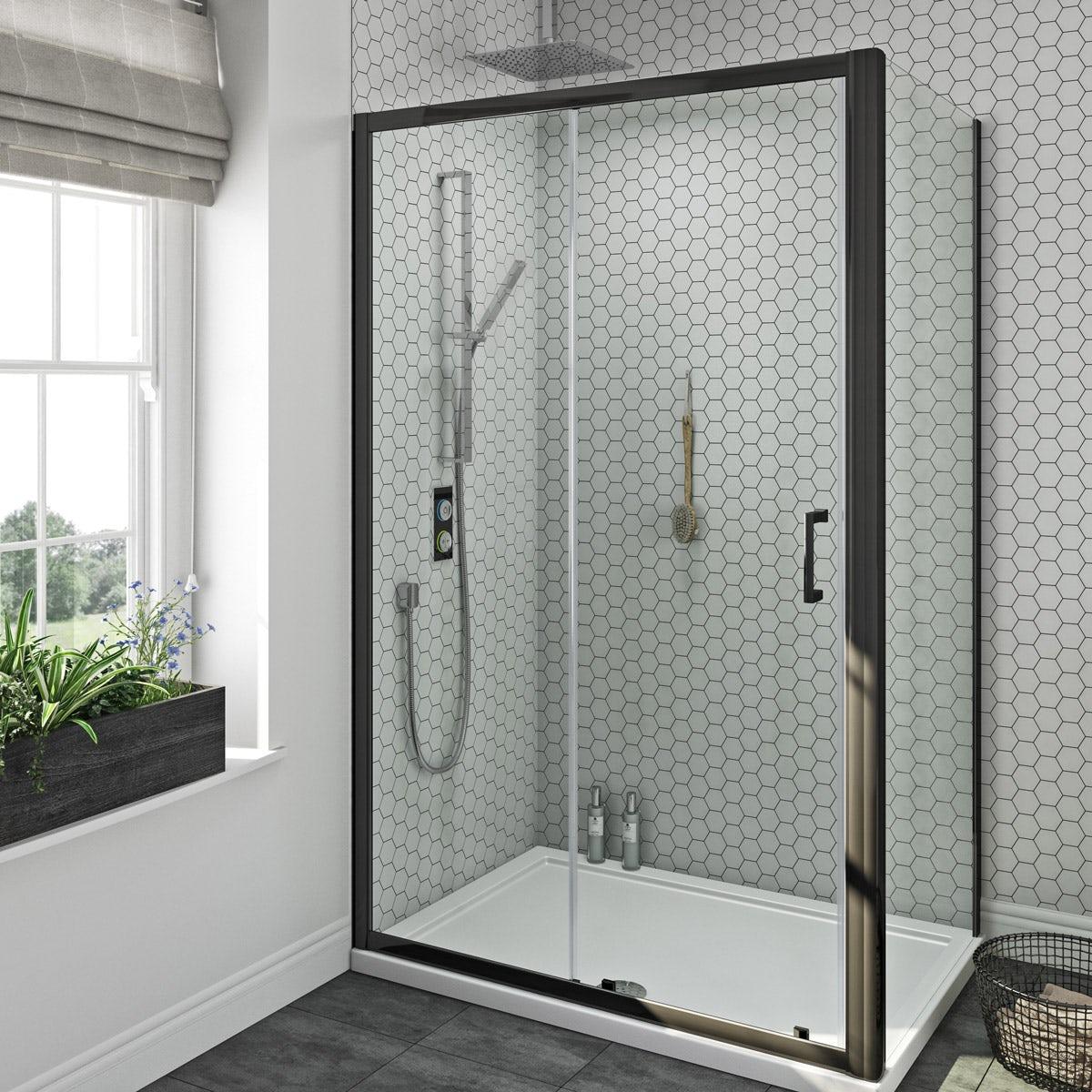 Smartap Black Smart Shower System With Mode Black Shower