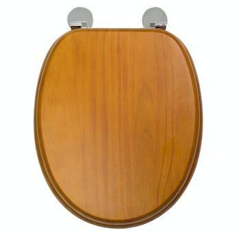 Croydex Davos antique pine flexi fix antibacterial toilet seat