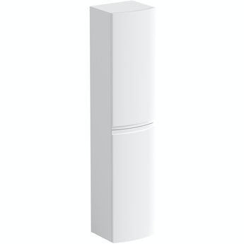 Mode Harrison white wall hung cabinet 1400 x 300mm