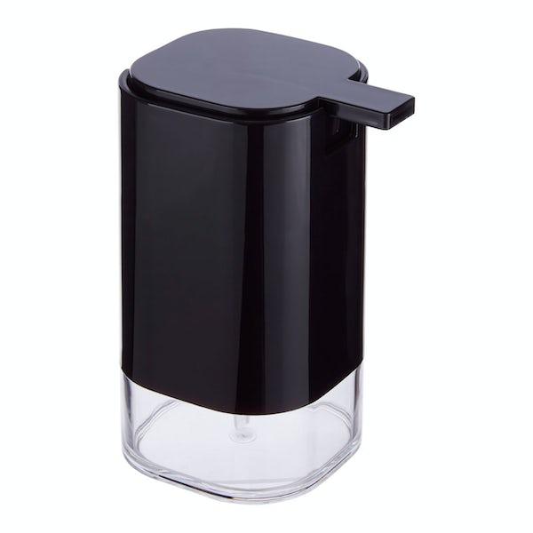 Accents Black acrylic soap dispenser