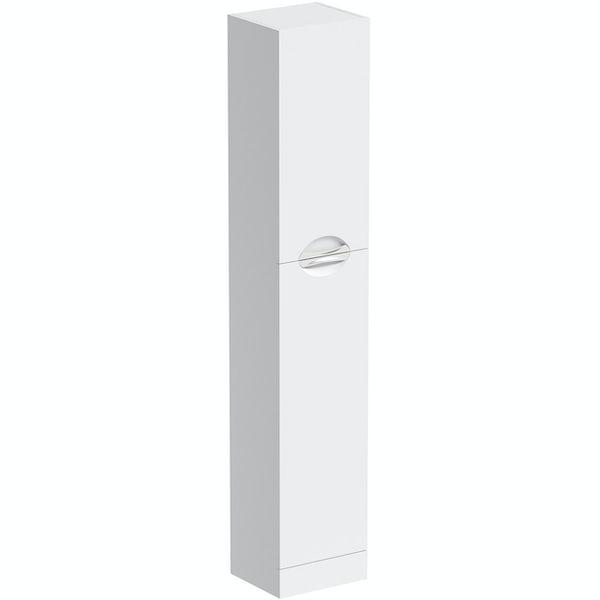 Orchard Elsdon white slimline tall storage unit 1900 x 350mm