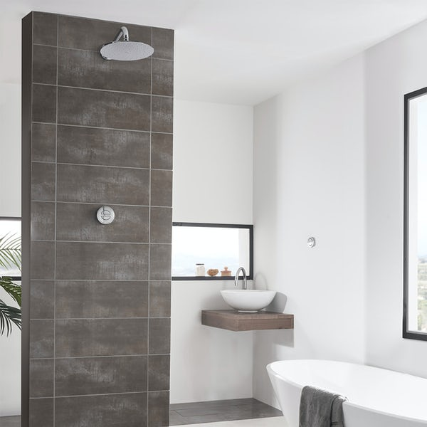 Aqualisa Unity Q Smart concealed shower pumped with wall head