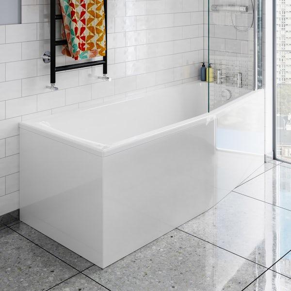 Ideal Standard Concept Space elm complete right handed shower bath suite 1700 x 700
