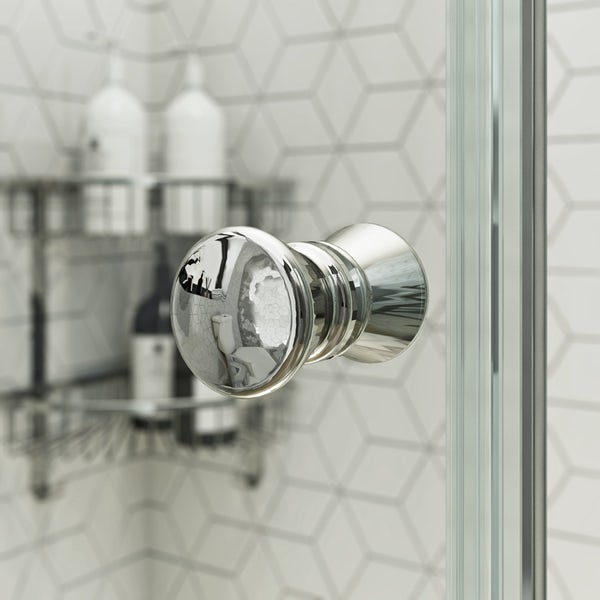 Clarity 4mm shower enclosure with lighweight tray