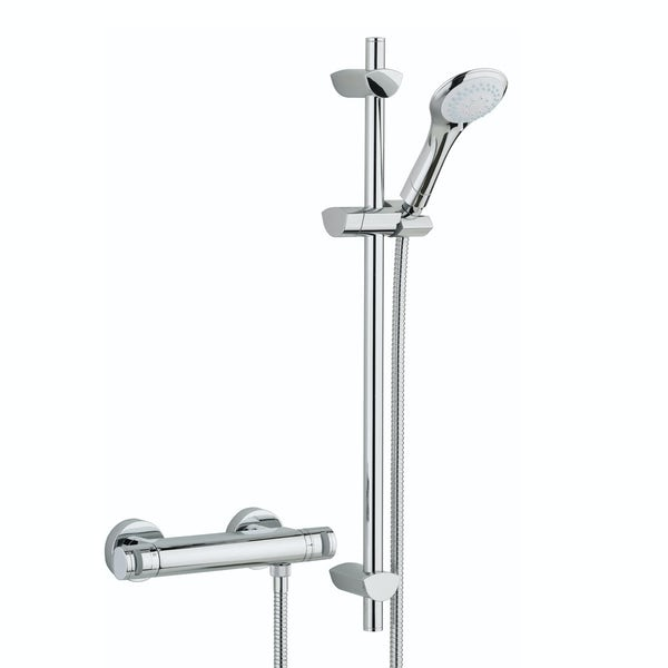 Bristan Artisan thermostatic bar shower valve with slider rail kit ...
