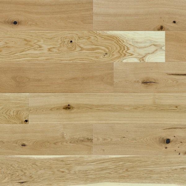 Basix Oak engineered matt UV oiled bevelled click wood flooring