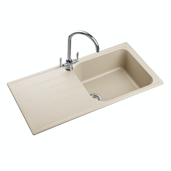 Rangemaster Amethyst igneous 1.0 bowl stone kitchen sink