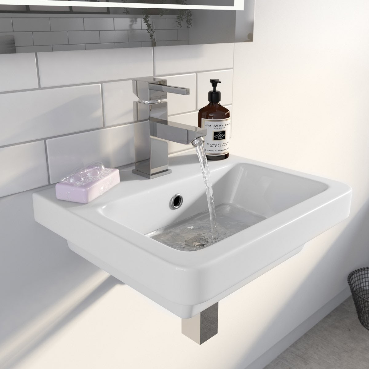 Mode Cooper 1 tap hole wall hung basin 400mm with waste ...