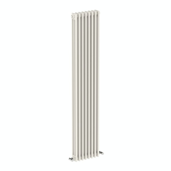 Dulwich vertical white triple column radiator 1800 x 378