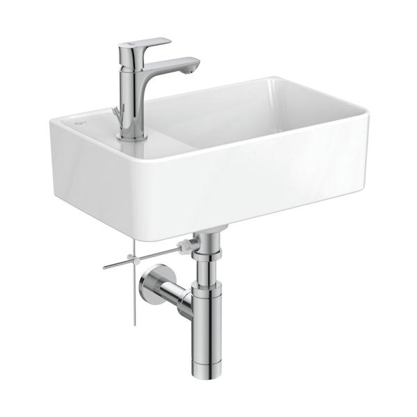 Ideal Standard Strada II 1 tap hole left hand wall hung basin 450mm