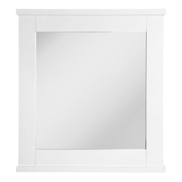 Portland white wood wall mirror