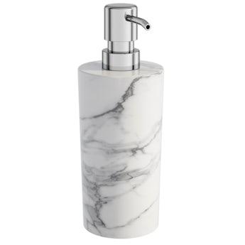 Showerdrape Athena marble soap dispenser