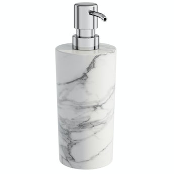 Accents Athena marble soap dispenser