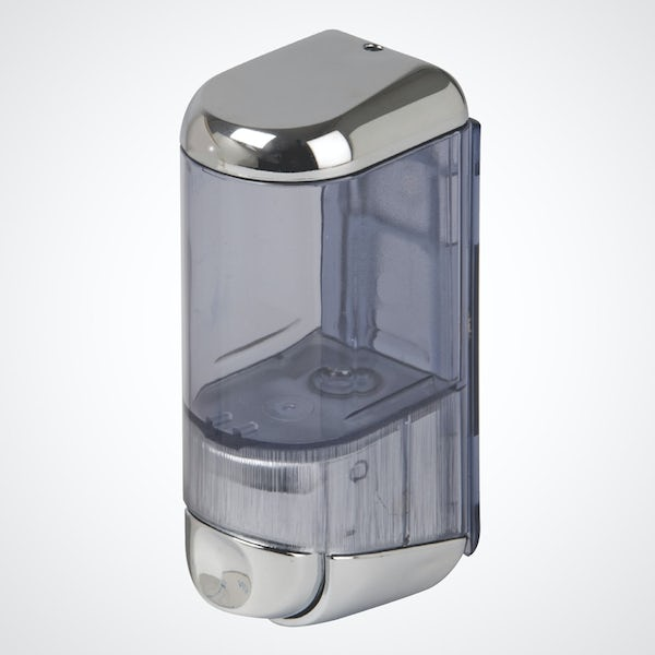 Dolphin commercial chromed plastic mini soap dispenser