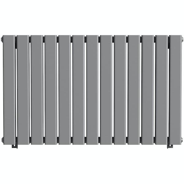 The Heating Co. Bonaire anthracite grey double horizontal flat panel radiator
