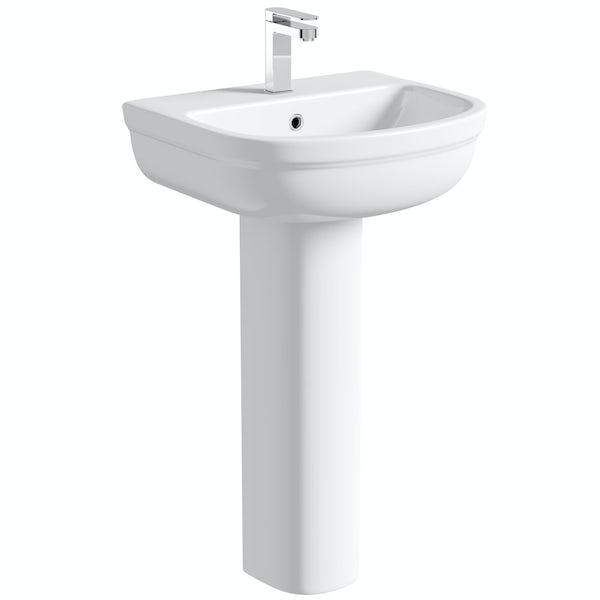 Orchard Elsdon 1 tap hole full pedestal basin 500mm