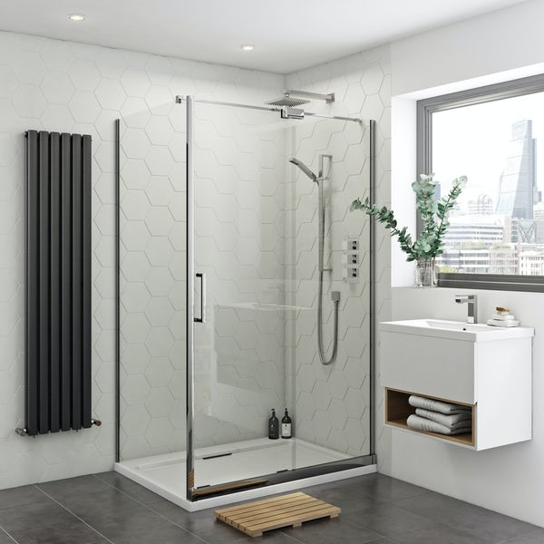 Mode Levien 8mm easy clean right handed rectangular sliding shower enclosure