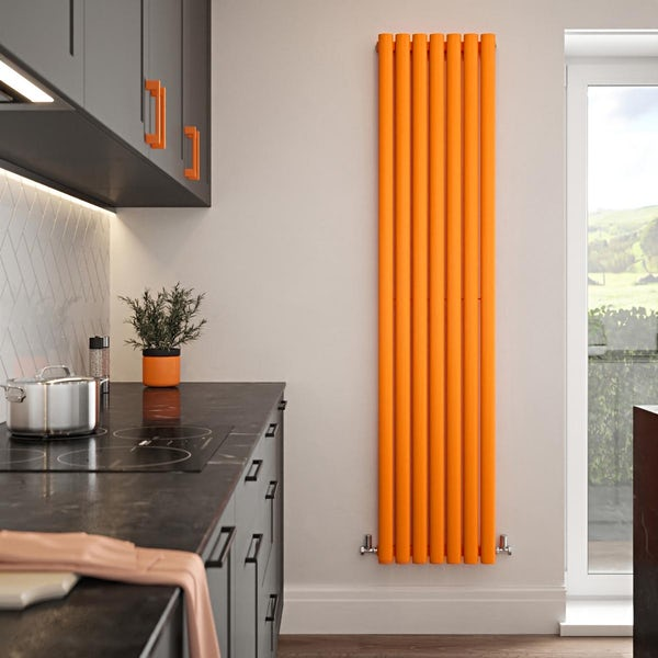 The Tap Factory Vibrance orange vertical panel radiator
