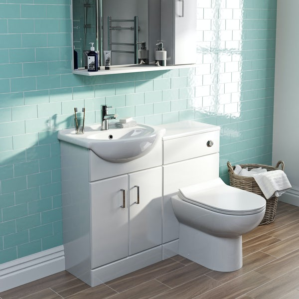 Orchard Eden white 1040 combination with Eden contemporary back to wall toilet