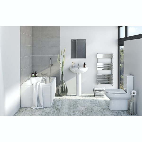 Bristan and Orchard complete straight bath suite