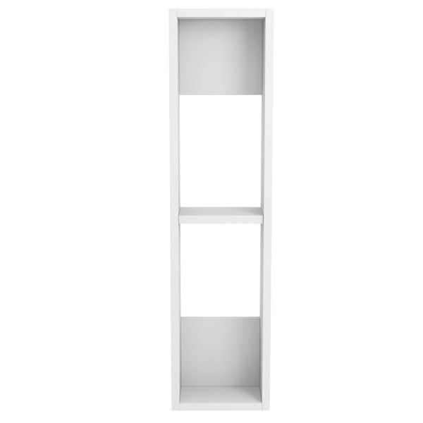 Accents Slimline white wall hung open storage unit 800 x 200mm